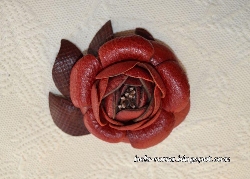 Цветы из кожзам своими руками мастер класс 623