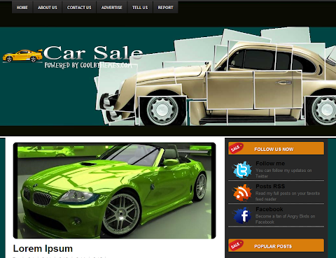 Car Sale Blogger Theme