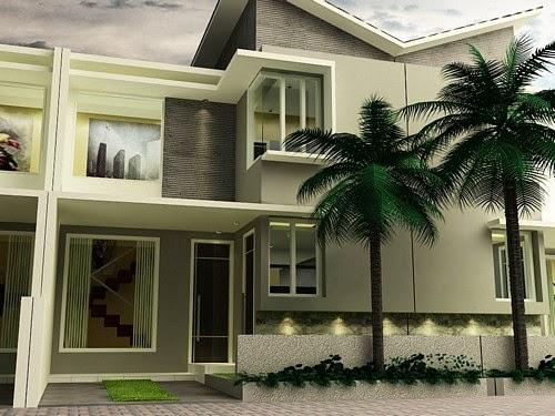 Fasad Lantai 2 Konsep Mewah Dengan Modal Perpaduan Warna Yang Serasi