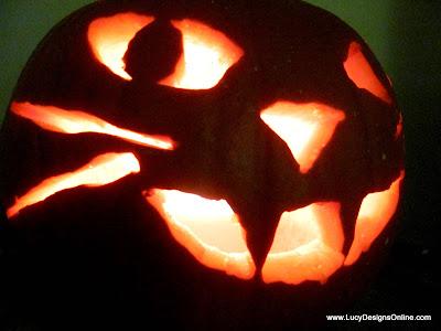 cat face pumpkin design