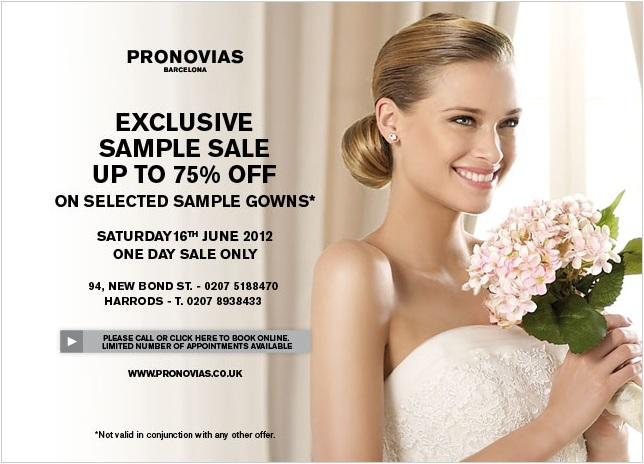 Pronovias Wedding Dress Sample Sale
