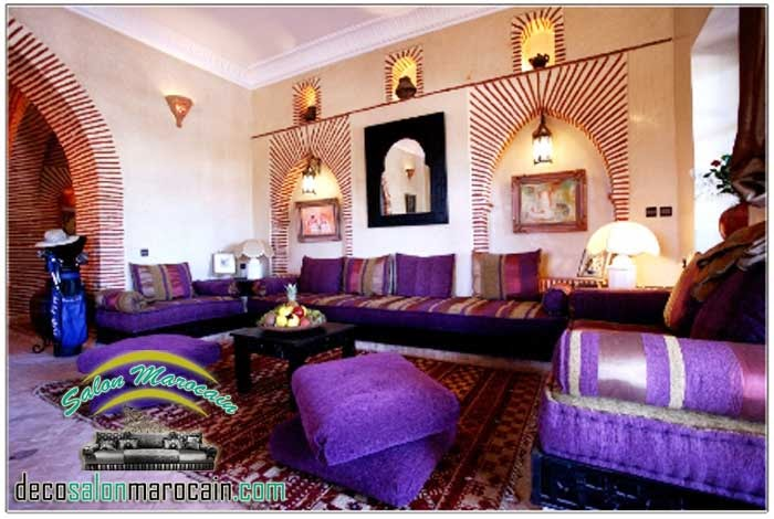 Boutique salon marocain 2016 2017 d coration int rieur for Decoration salon mauve et gris