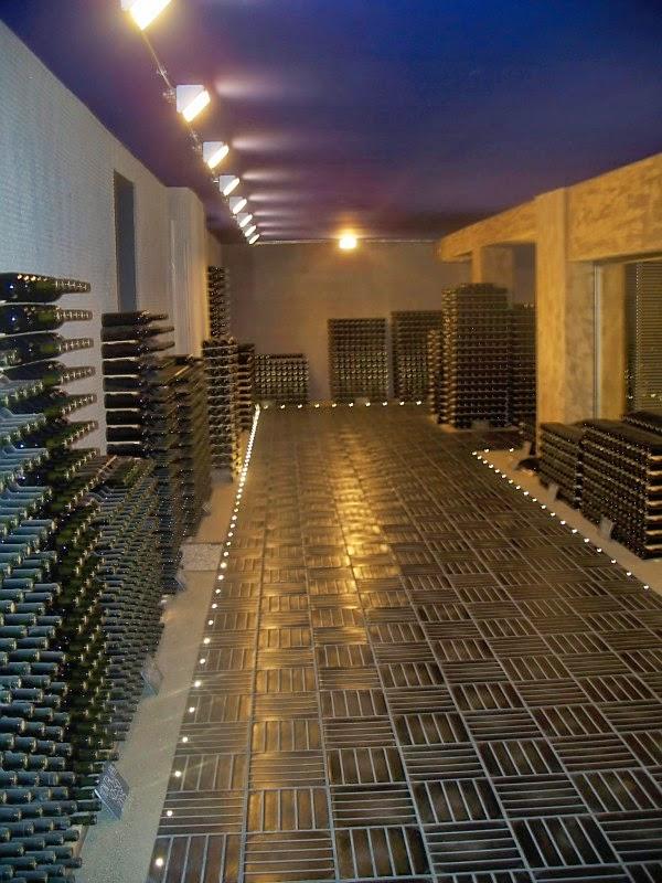 wine cellars at ascheri winery