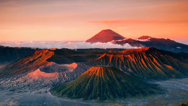 Indonesia Java Volcano Mountains