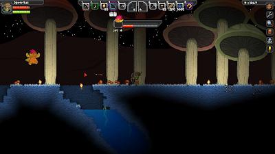 Грибной биом в Starbound