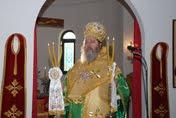 Ο Θεοφιλέστατος Επίσκοπος Κερνίτσης κ. Χρύσανθος στο Ναό μας (φωτογραφίες)