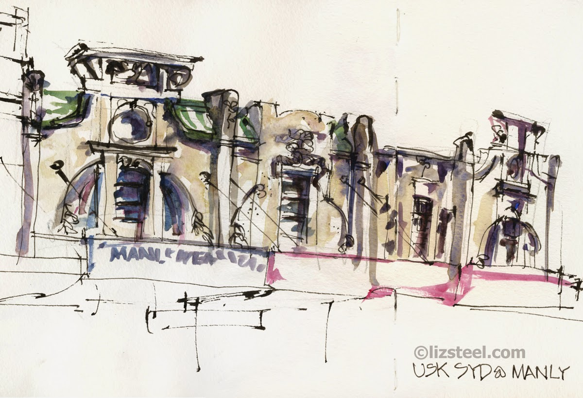 Drawing street scenes in ink only | Urban Sketchers