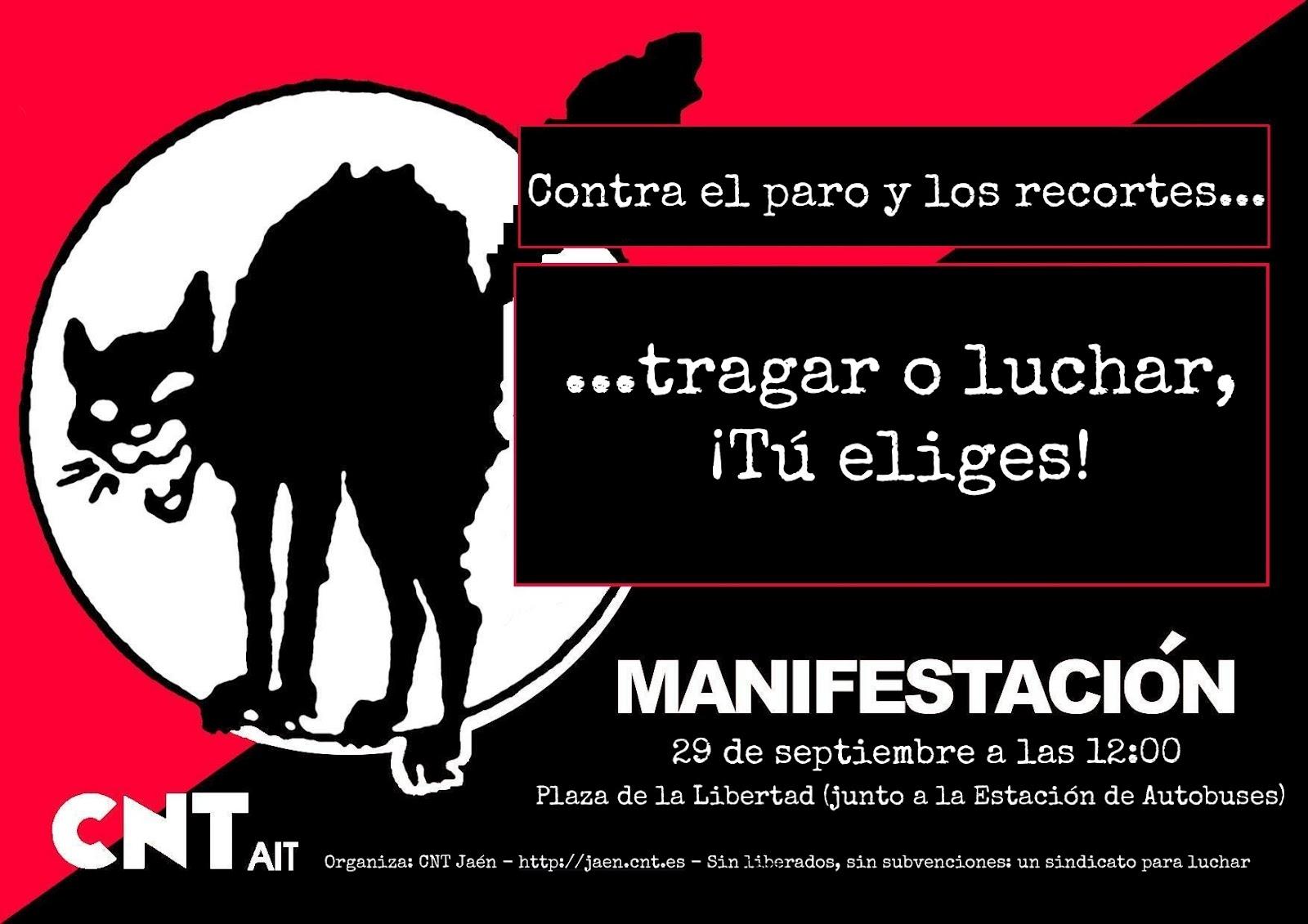 Cartel Manifestación 29S Jaén