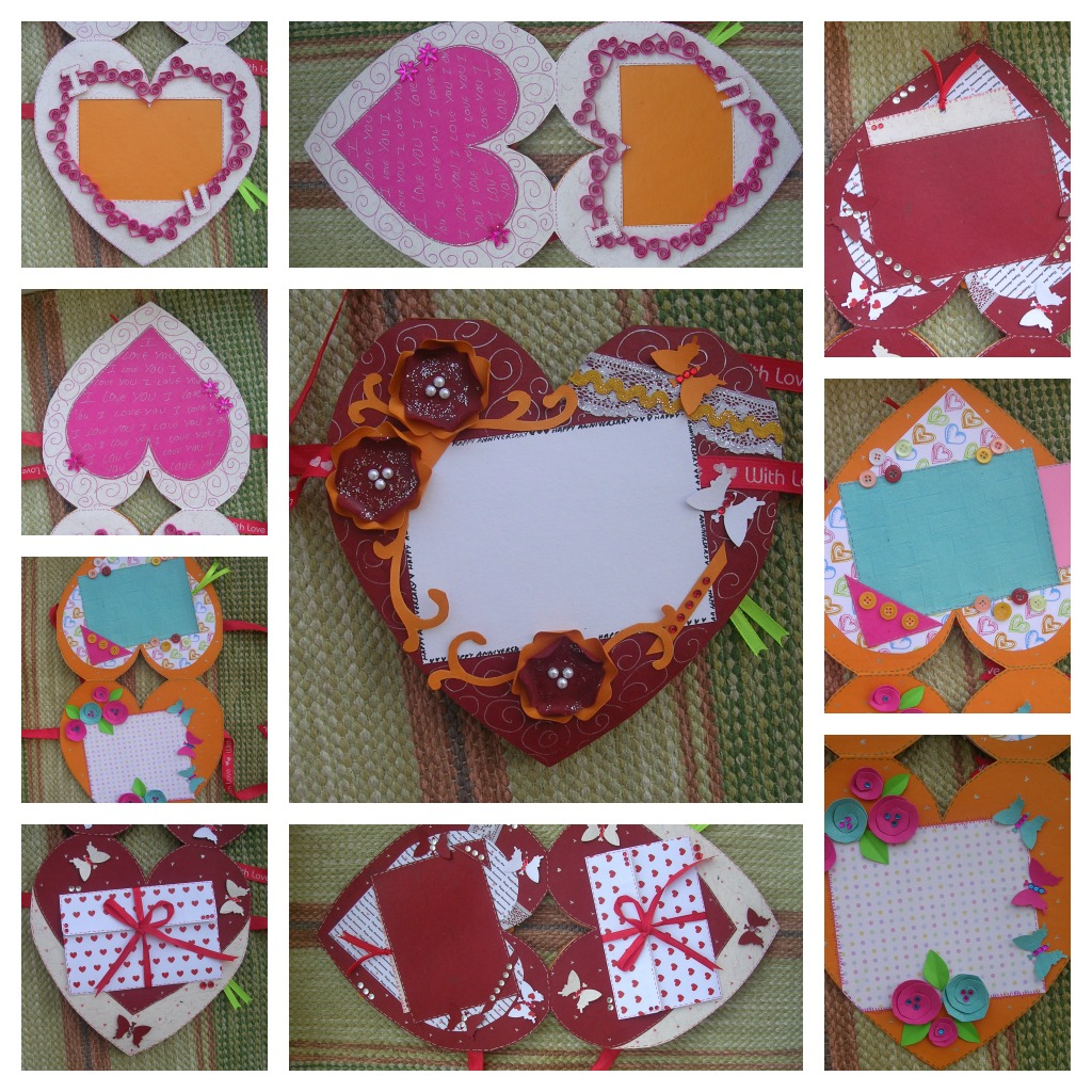 Handmade Cards Hearts Heart Shaped Customized Card
