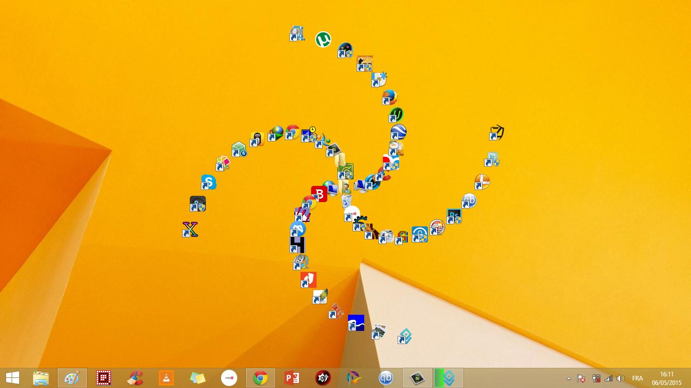desktop تنظيم وترتيب