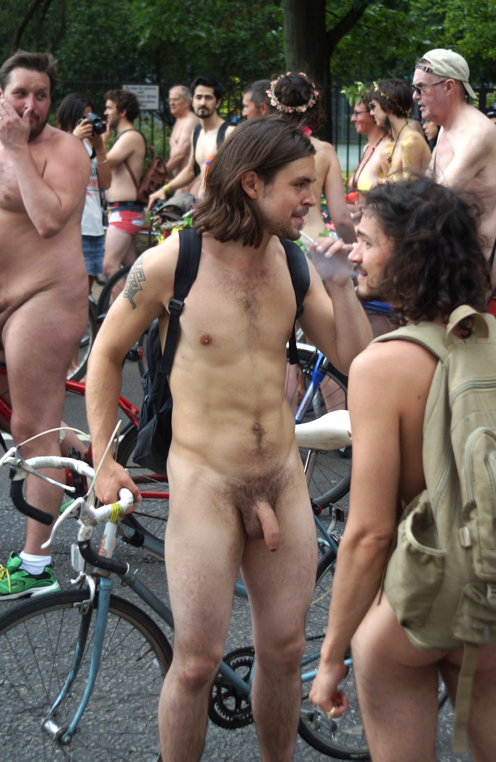 male bike riders naked