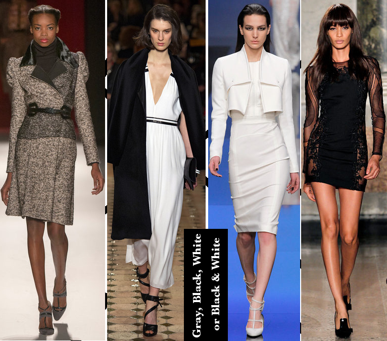 Women's Fall 2013/2014 Trends- Gray, white, and black colors