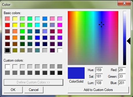 Color Dialog Window