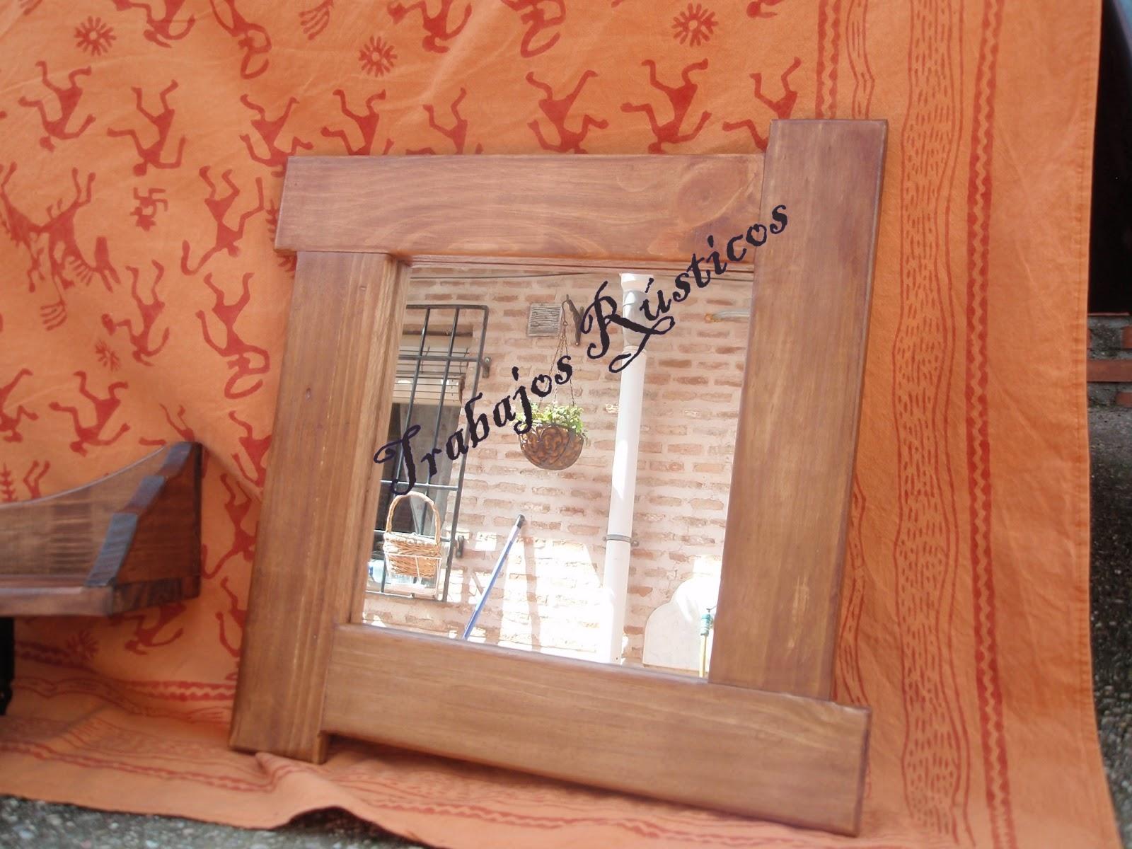 Trabajos Rústicos: Espejos con marco madera