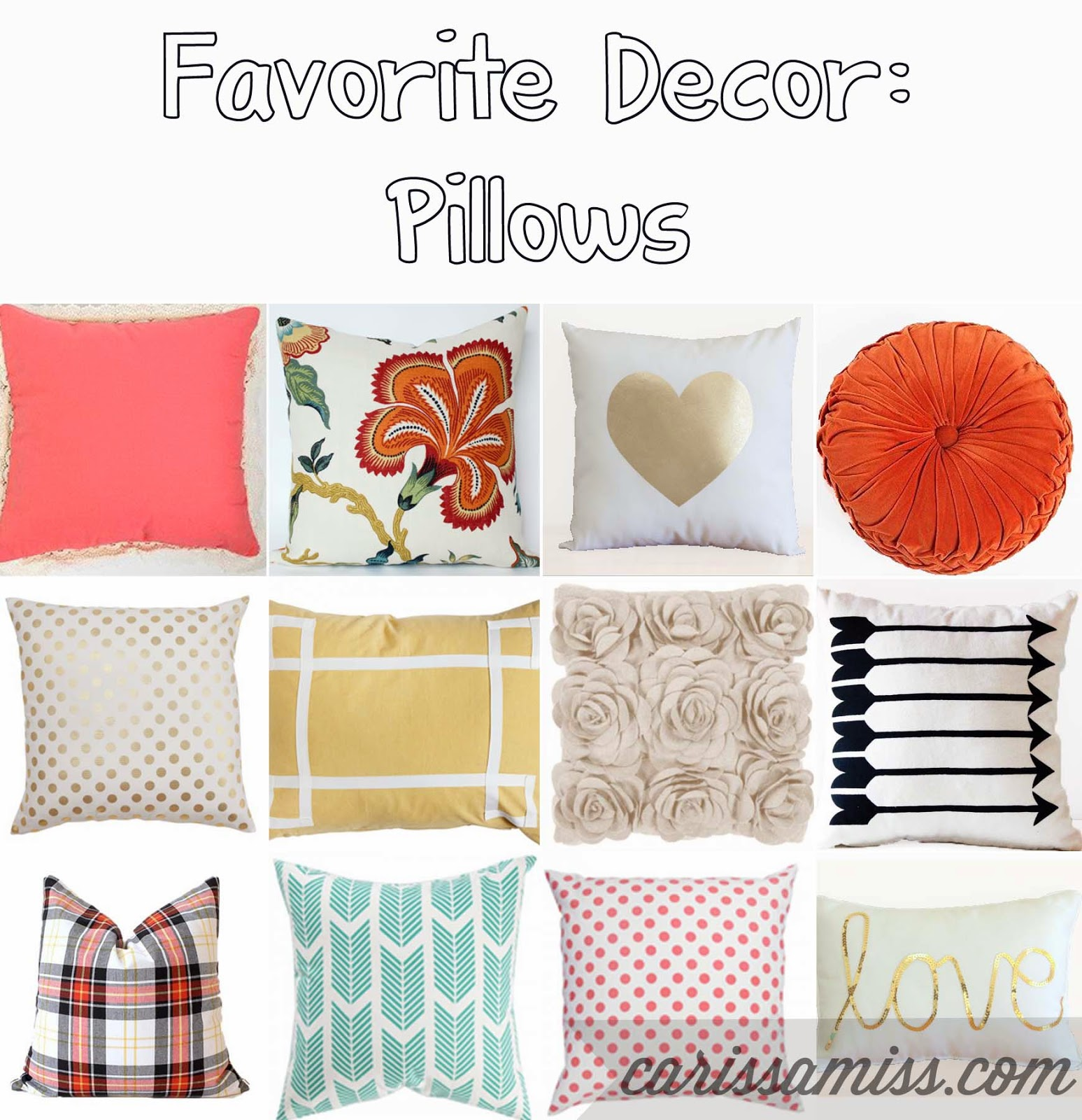 Favorite pillows and where to buy them on playpartypin.com
