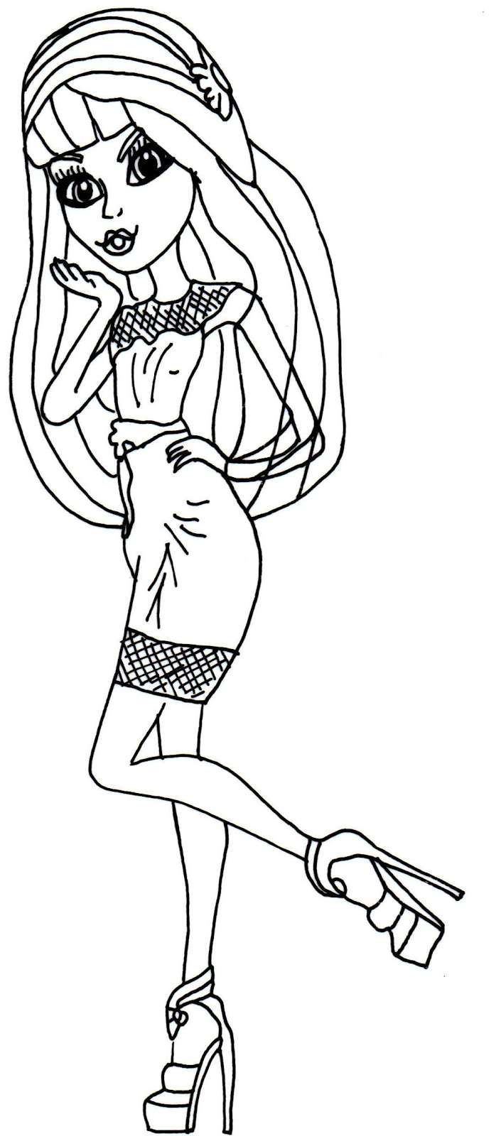 high frights camera action coloring pages 403x640 monster