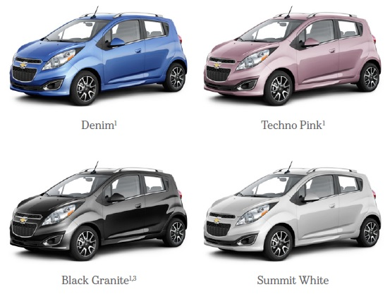 Colores disponibles Chevrolet Spark