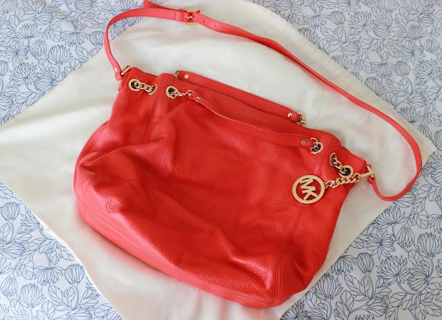 Blog sale red Michael Kors handbag