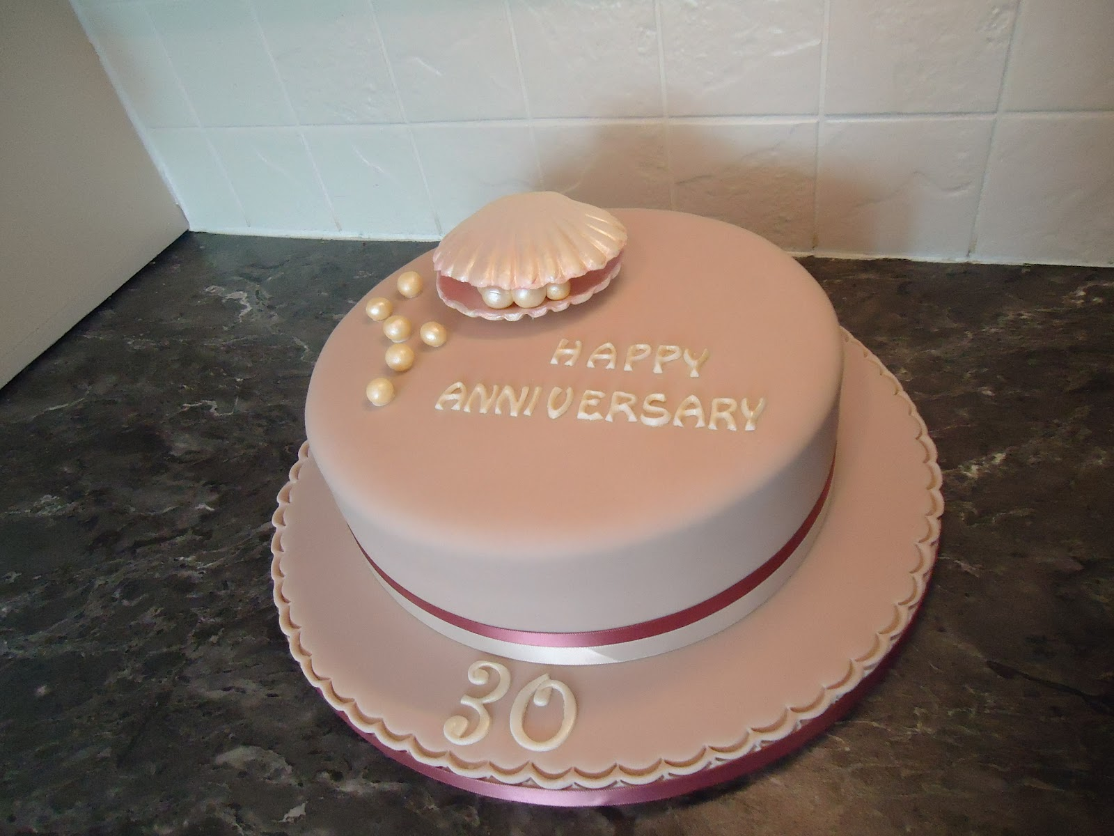Cake Ideas For Pearl Wedding Anniversary : Nana Jeannie s Cake Notes