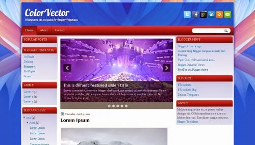 ColorVector - Free Blogger Template