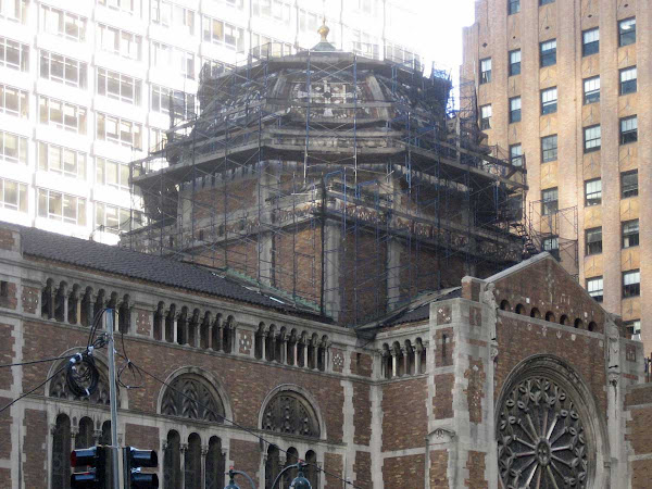 St. Bart's Dome - Nearly uncovered.