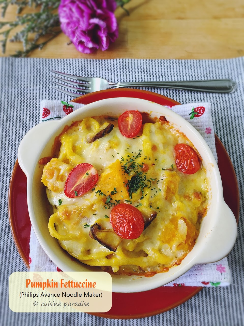 Cuisine paradise singapore food blog recipes reviews and travel baked pumpkin fettuccine forumfinder Choice Image