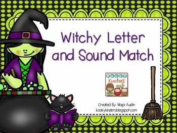 http://www.teacherspayteachers.com/Product/Witchy-Letter-and-Sound-Match-1449998