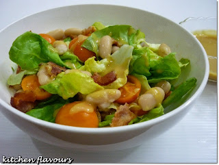 Crispy Honey Mustard Bacon Salad from Kitchen Flavours