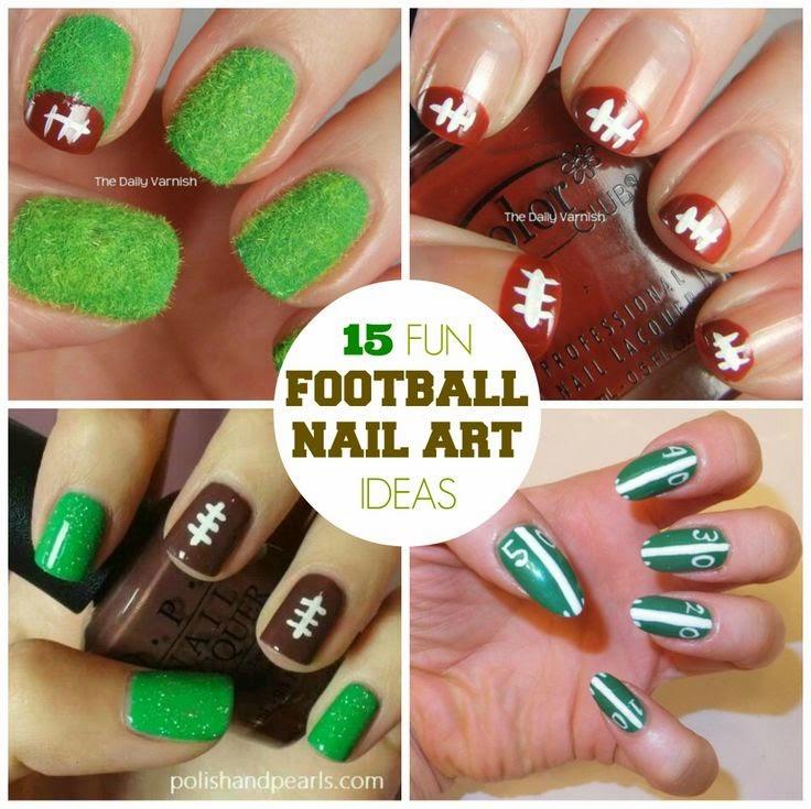 Fun Football Nail Art Designs