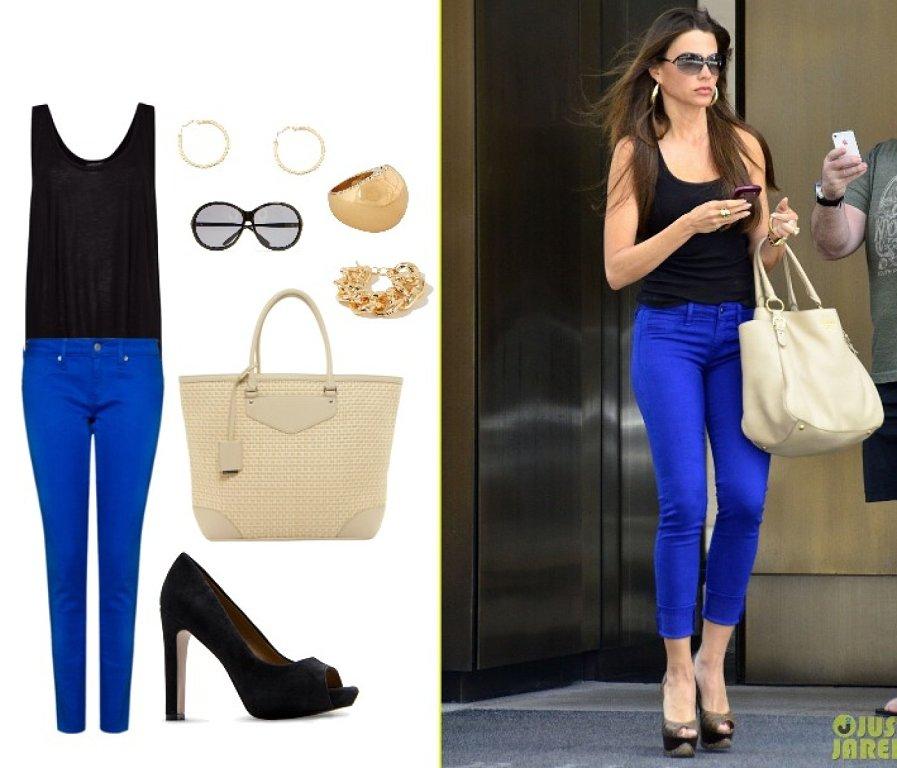 Moda beauty care diy pantalones de colores for Combinaciones con azul