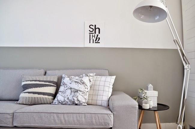 Boho deco chic elegancia y estilo de decorar en gris y blanco - Deco woonkamer aan de muur wit ...