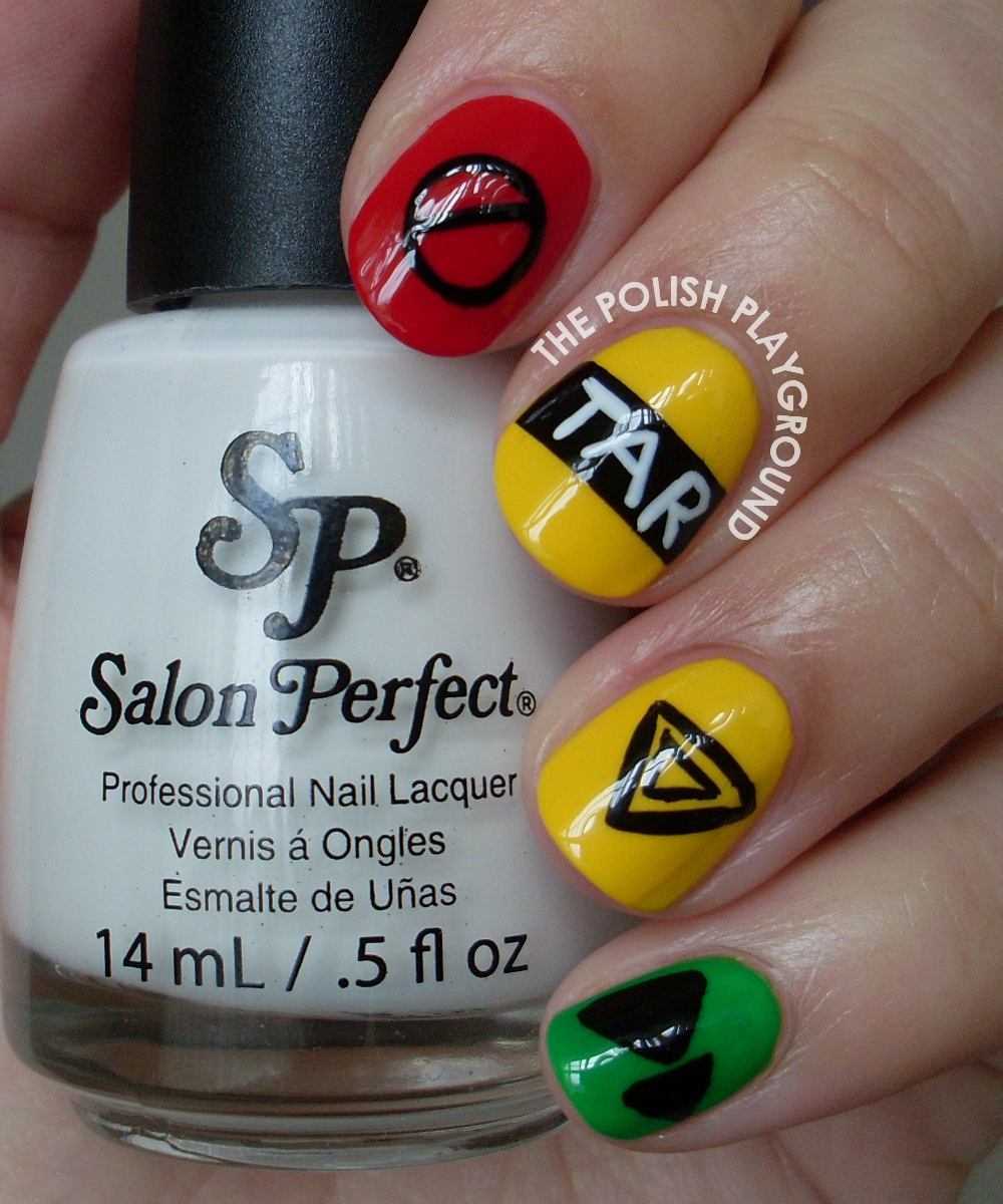 The Amazing Race Inspired Nail Art