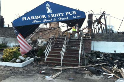 The Rockaways - Once a refuge for 9/11 emergency workers Harbor Lights Pub is now destroyed