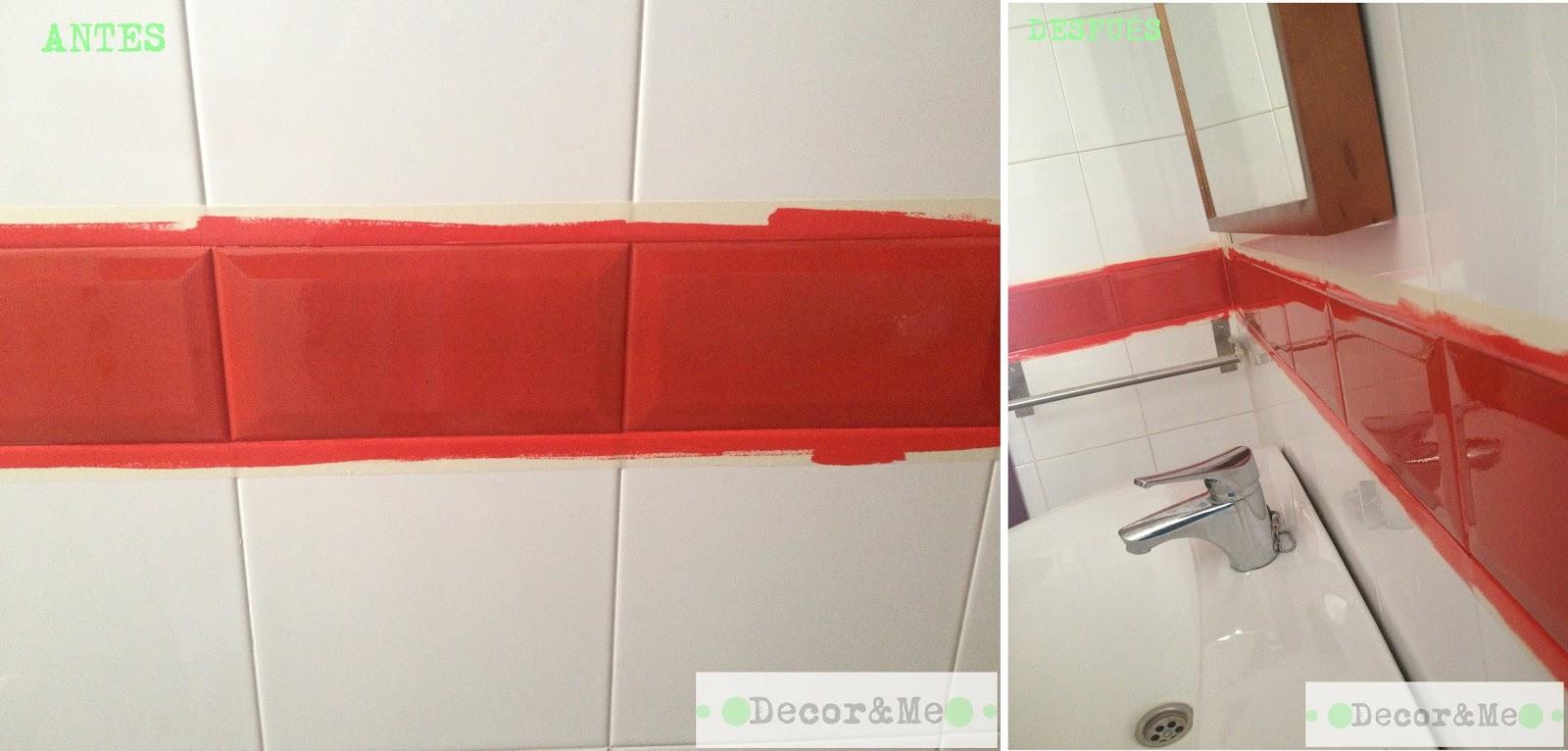 Decor me renovando el ba o sin obras los revestimientos - Pintura bruguer para azulejos ...