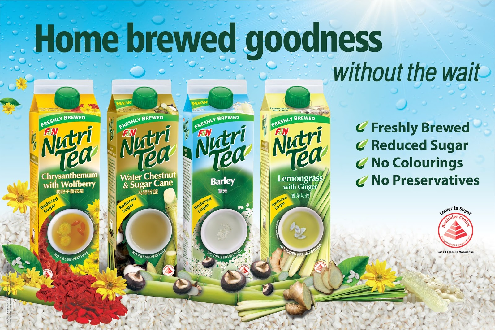 Beat the Heat and Keep Cool with F&N NutriTea   OnlyWilliam