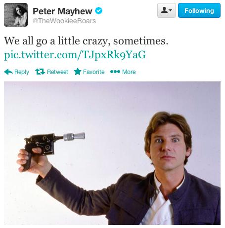 star wars set Harrison Ford pointing gun