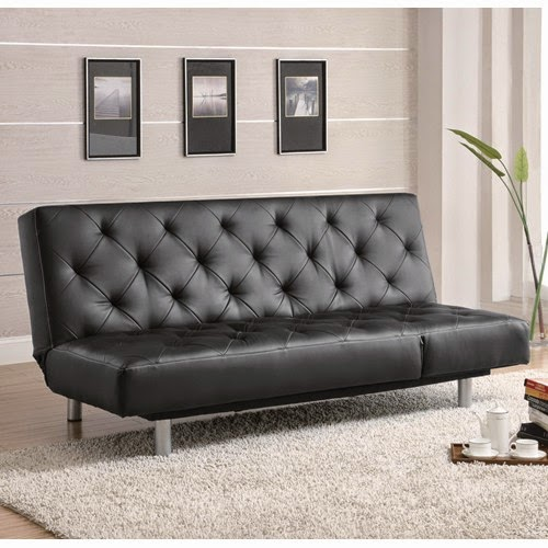 Futons Daybeds 300163 Contemporary Armless Convertible  : Sofa2BBeds300304 b02BSofa2BBeds2Band2BFutons2BBlack2BVinyl2BTufted2BSofa2BBed2BOversize2BChaise from mattressessale.eu size 500 x 500 jpeg 55kB