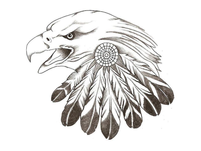 Eagle Feather Tattoo title=
