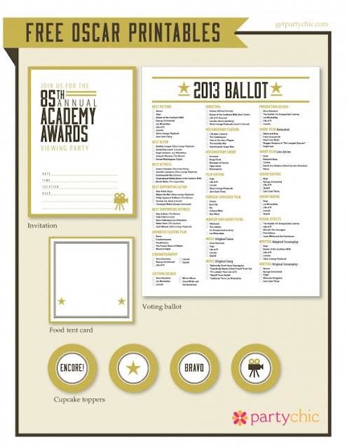 Be Different...Act Normal: Oscar Party Printables [Academy Awards]