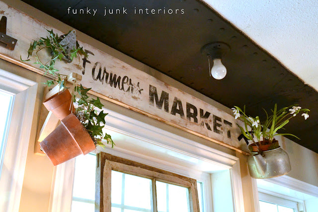old sign from reclaimed lumber via Funky Junk Interiors