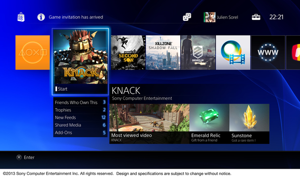 interface social ps4