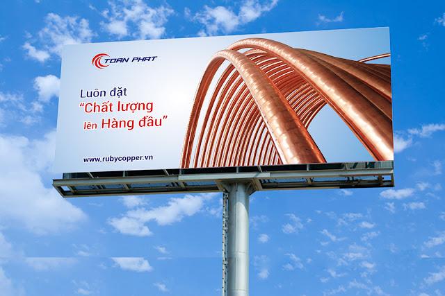 Thiết kế biển quảng cáo ngoài trời Công ty Toàn Phát