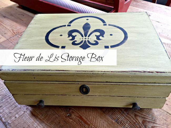 Fleur de Lis Storage Box www.homeroad.net