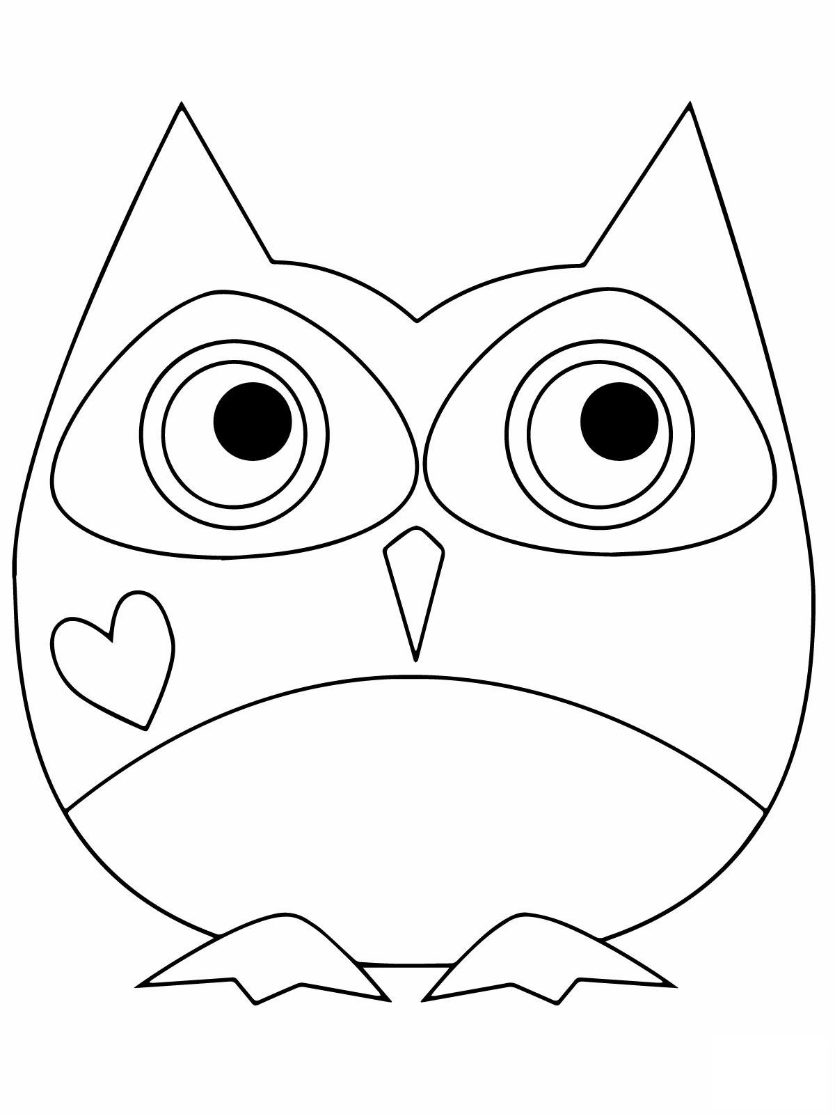 Owl Valentine's Day Coloring Pages Free Download