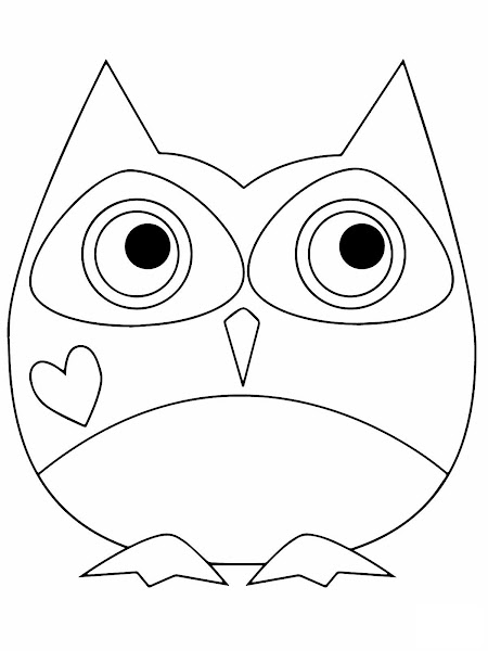 Valentine Owl Coloring Page