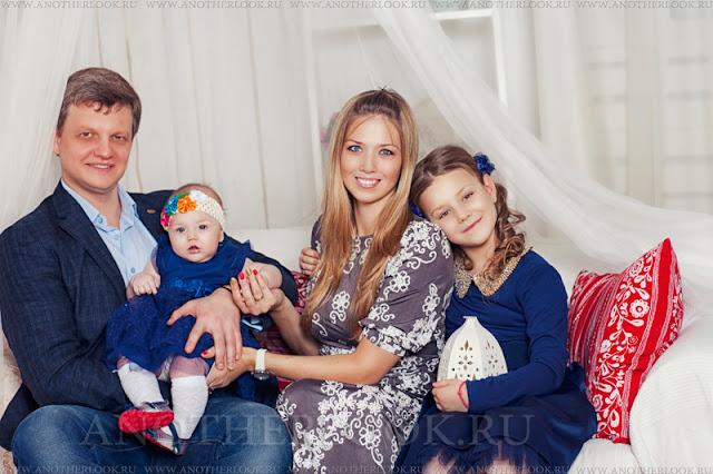 красивая фотосессия семьи