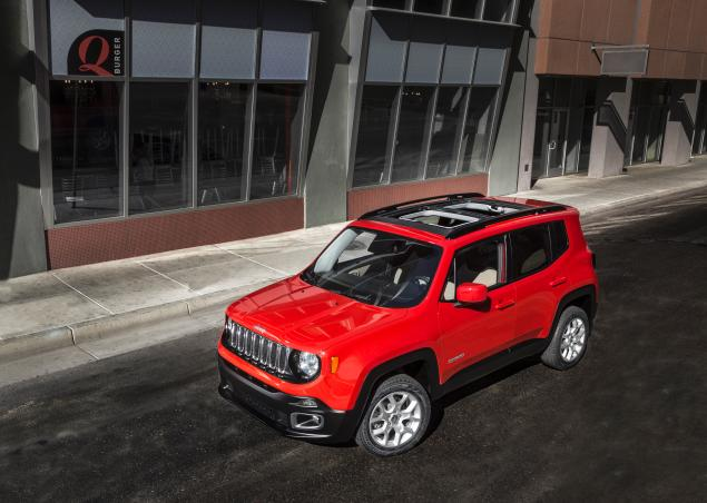 New Jeep's Renegade More Power Elegant edition front top view