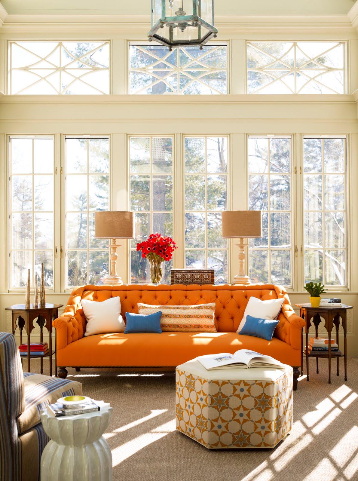 Vintage decorating with orange