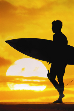 choosing surfer