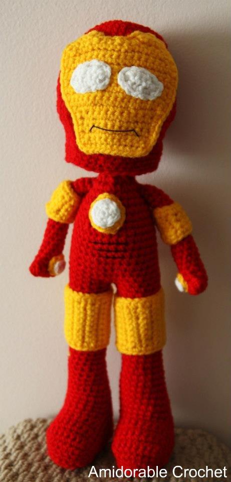 Iron Man Amigurumi Free Pattern : A[mi]dorable Crochet: Tony Stark...aka Iron Man!